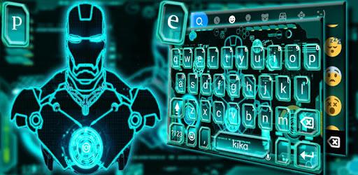 Ai Robot Neon Keyboard Theme apk
