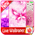 Pink glitter Live Wallpaper 2019 Pink glitter LWP Icon