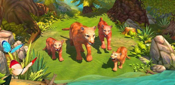 Mountain Lion Family Sim : Animal Simulator apk