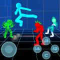 Stickman Neon Warriors: Street Fighting Icon