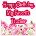 Birthday wishes for Teacher, Quotes, Greeting Card Icon