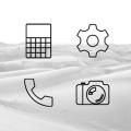 Lines Dark - Icon Pack Icon