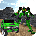 Offroad Hummer Transform Robot Icon