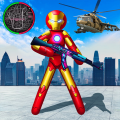 Iron Stickman Rope Hero War Gangstar OffRoad Icon