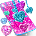 2018 Glitter hearts live wallpaper Icon