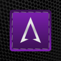 Threaded Silver Purple Icons Icon
