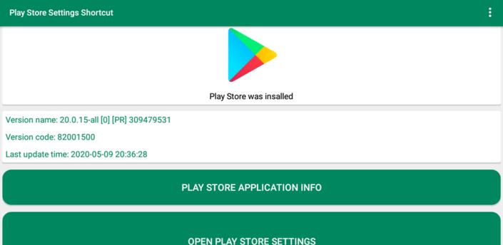 Play Store Settings Shortcut apk