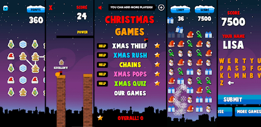 Christmas Games 5 in 1 - Free apk