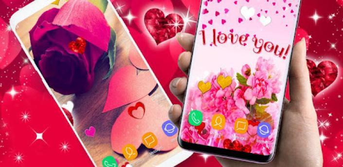 Love Hearts Live Wallpaper ❤️ Couple 3D Wallpaper apk