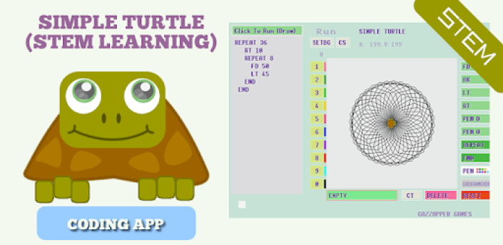 Simple Turtle LOGO - Coding app for Drawing (STEM) apk