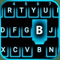Neon Blue Smart keyboard Icon
