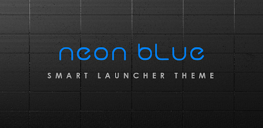 NEON BLUE Smart Launcher Theme apk