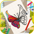 Learn To Draw Colorful Butterfly Step by Step Icon