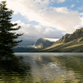 Golden Hilly Lake LWP Icon