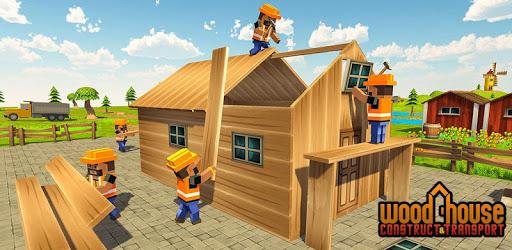 Wood House Construction Simulator apk