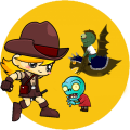 Zombie war and shooting game Icon