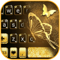 Gold Butterfly Keyboard Background Icon