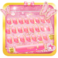 Pink Butterfly Keyboard Icon
