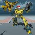 Air Robot Plane Transformation Icon