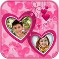 Love Couple Photo Collage Icon