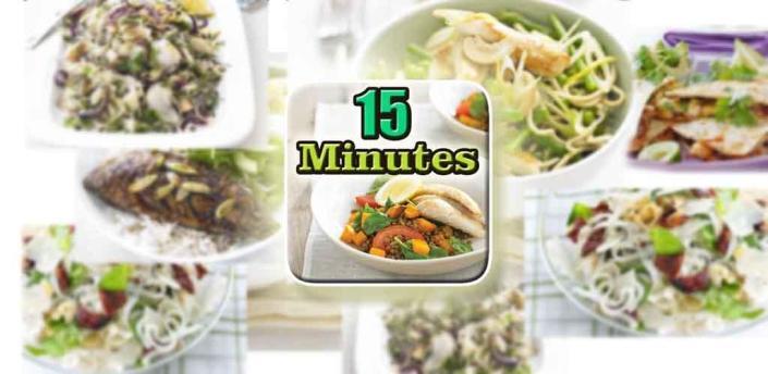 15 Minutes Meals Recipes Easy apk