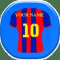 إسمك على قميص كرة القدم 2017 Icon