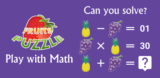 Math Puzzles: Funny fruits game free apk