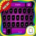 Pink Black keyboard theme Icon