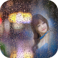 rainy glass photo frames costume montage editor Icon