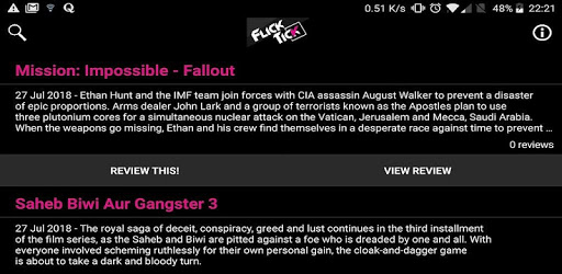 FlickTick - Movie Review App apk