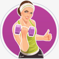 Female Fitness - Workout at Home Icon