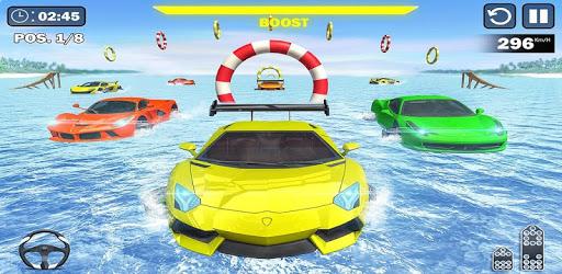Water Surfing Car Stunts apk