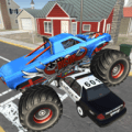 Monster Truck Racing - Cop Car city police Chase Icon