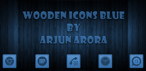Wooden Icons Blue apk