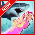 Shark Attack Little Mermaid Icon