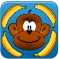 Monkey Eat Banana Icon