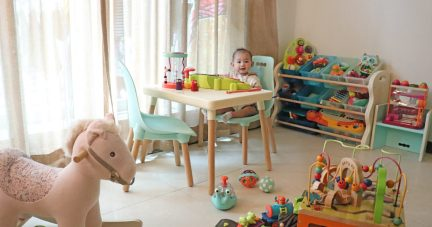 【絕美與實用 寶寶玩具收納 |美國B.Toys 感統玩具 家具系列 好奇星孵化器】