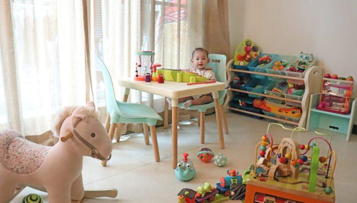 【絕美與實用 寶寶玩具收納  美國B.Toys 感統玩具 家具系列 好奇星孵化器】