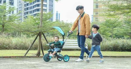 【從10個月玩到5歲|法國Globber TRIKE  四合一多功能三輪車(可變成滑步車)】