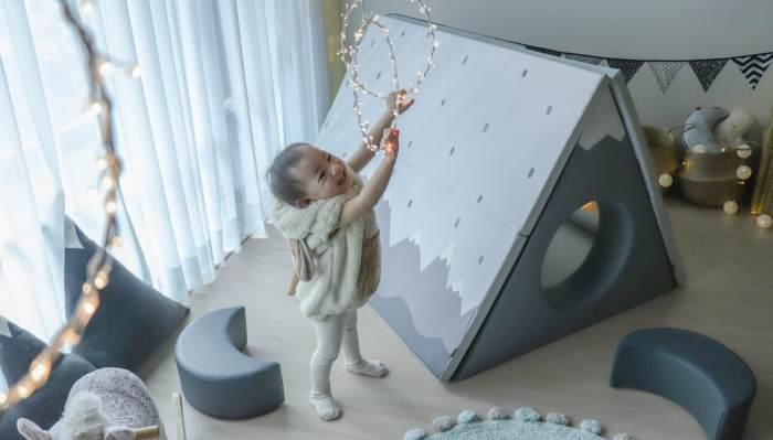 【長達五年心得!安心耐用推薦|韓國第一品牌Alzipmat折疊遊戲地墊。圍欄。帳篷小屋。迪士尼輕傢具系列。收納小沙發】