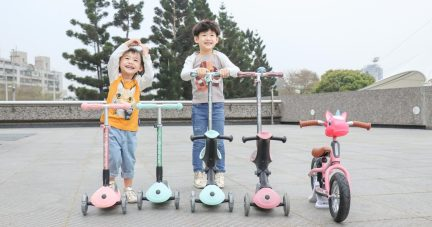 茜茜獨家全台首團!【小小孩也能騎|法國GLOBBER二合一夢幻版 mini滑板車。兩用滑步車。青少年滑板車】