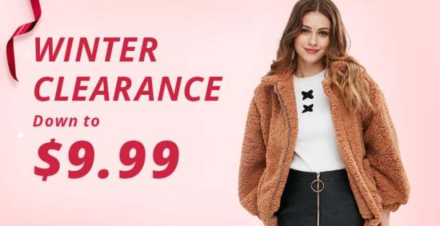 Winter Clearance promotion