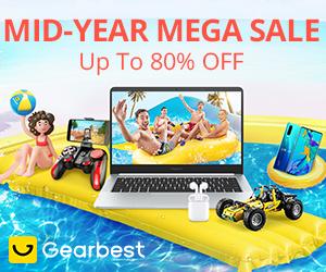 Gearbest Até desconto de 80%: Mega Promoção de Meio Ano em Junho promotion