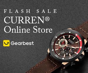 Gearbest Curren Watch Online Sales: Deals Under $20 promotion