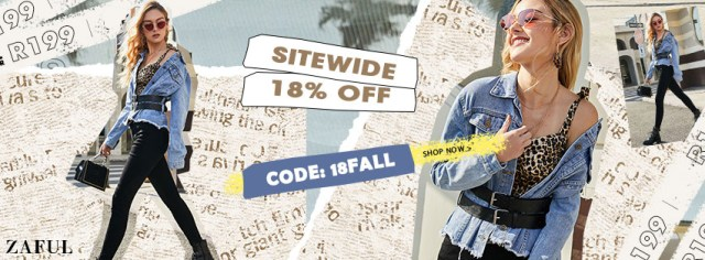 SITEWIDE 18% OFF promotion
