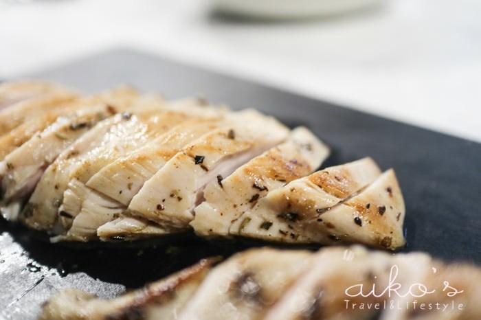 【西方料理】減醣好幫手~嫩煎雞胸一次就上手:鹽水漬出超多汁的雞胸就像腿肉般嫩口。