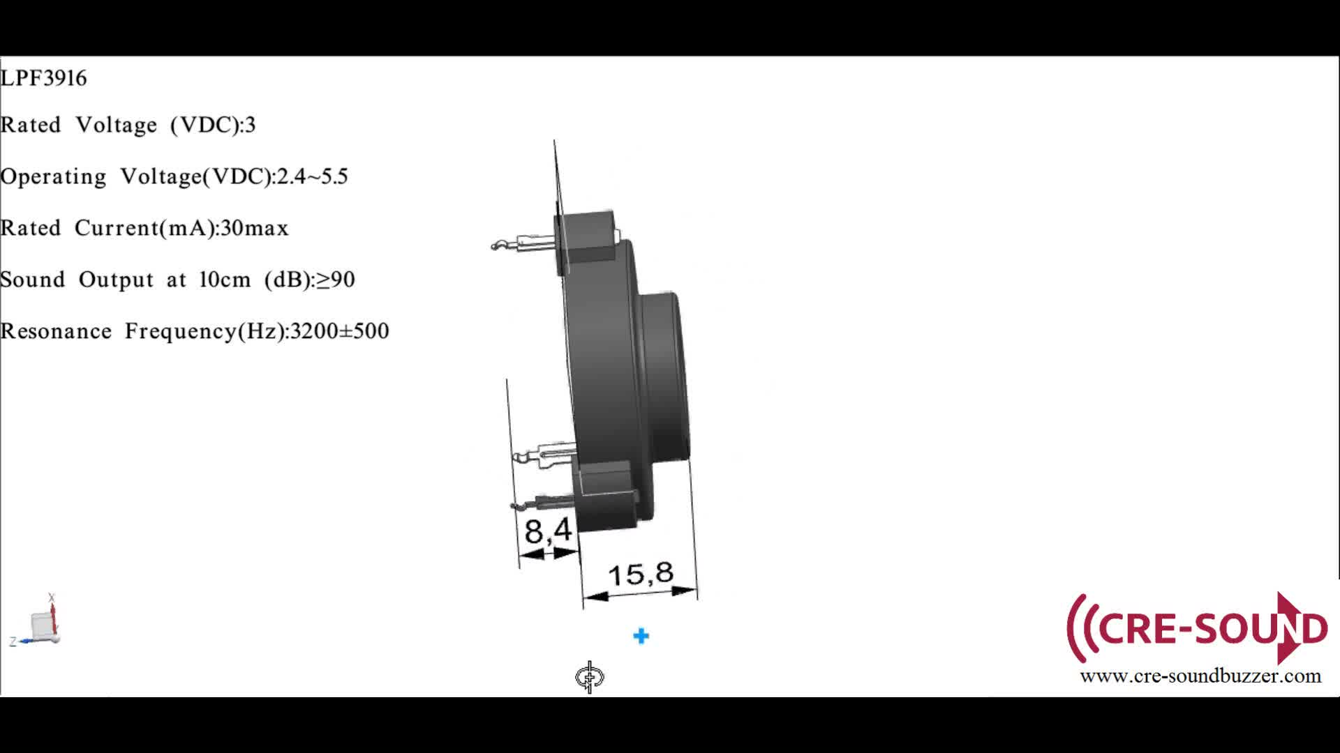 3 Pin Buzzer 3v 90db Self Driven Buzzer For Smoke Alarm
