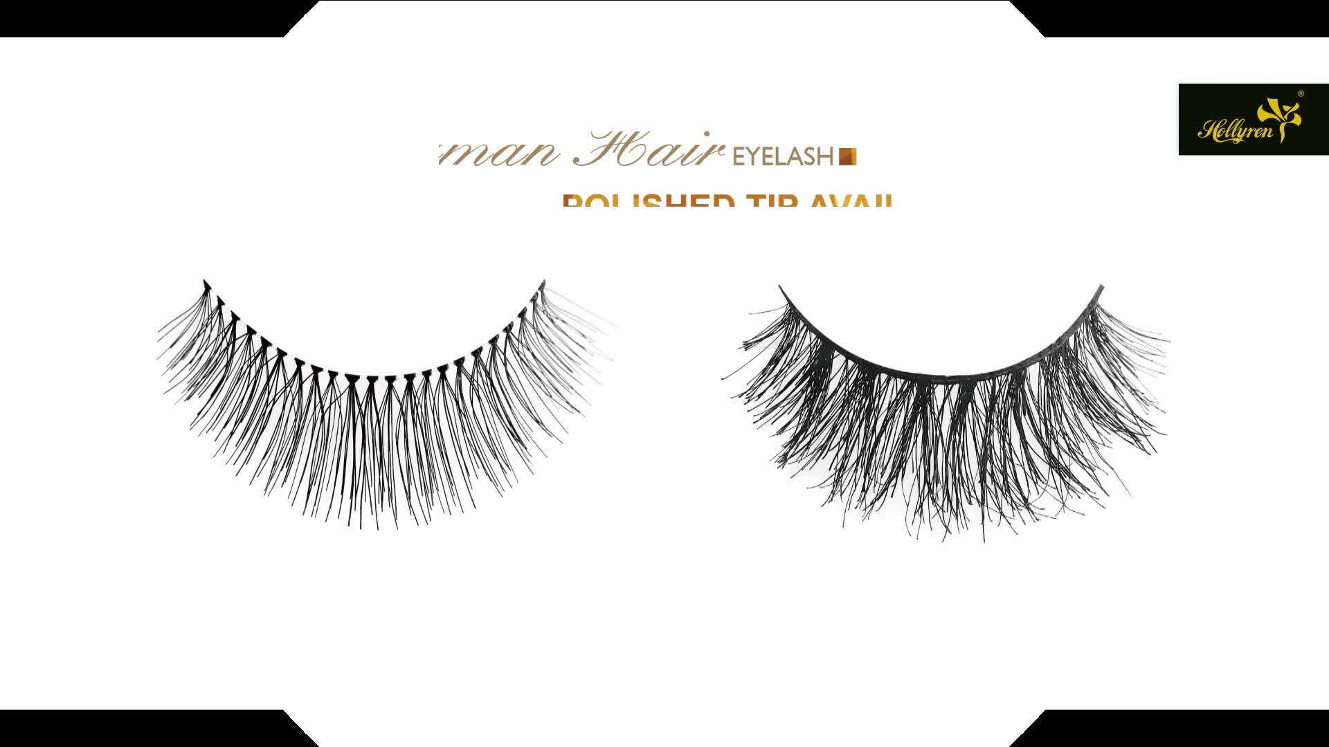 Remy Eyelashes 3d Fluffy Without Knot Soft Band Human Hair