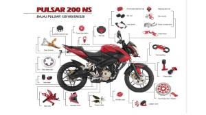 Custom Motorcycle Spare Parts For Bajaj Pulsar  Buy Motorcycle Spare Parts,Spare Parts For