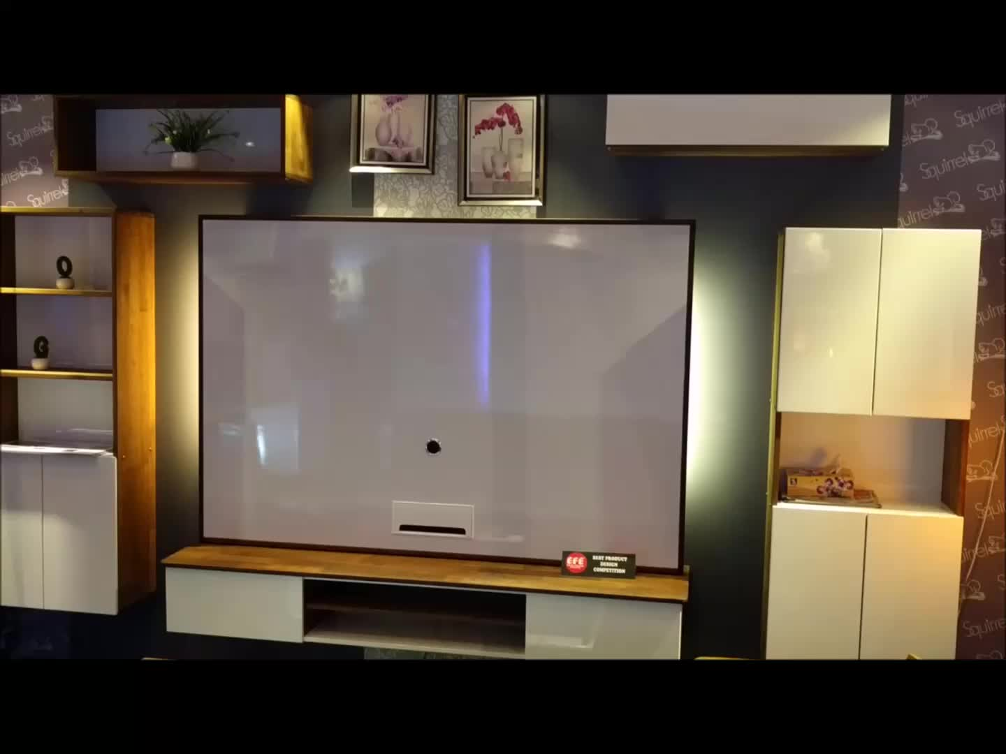 Simple Design Wall Mounted Living Room Wooden Mdf Cabinet